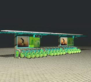 公共自行车棚 M-19