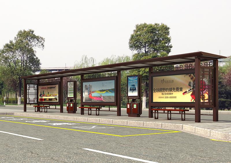 江苏泗洪县古徐大道公交站台建设工程